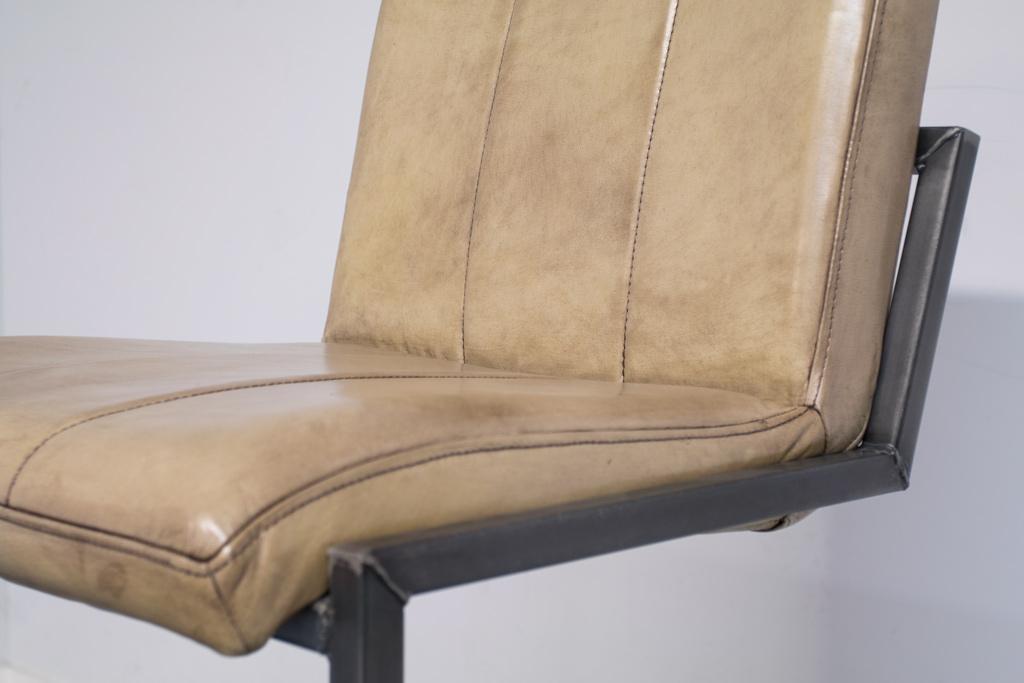 Buffalo Industrie Barhocker Hoch - Vintage Leder - Art. 36