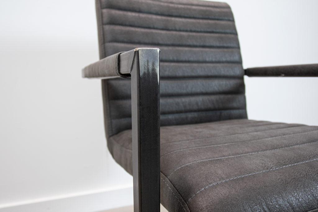 Industrie Freischwinger - Stoff Stuhl - Art. 55 - Antracite