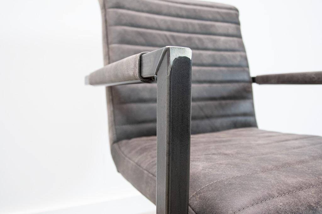 Industrie Freischwinger - Lederstuhl - Art. 55 - Moro