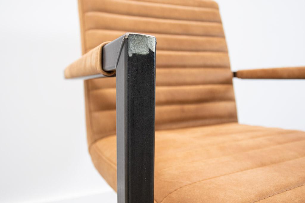 Industrie Freischwinger - Lederstuhl - Art. 55 - Walnut