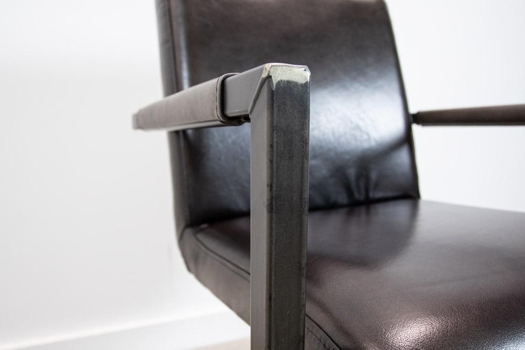Industrie Freischwinger - Lederstuhl - Art. 59 - Cuba