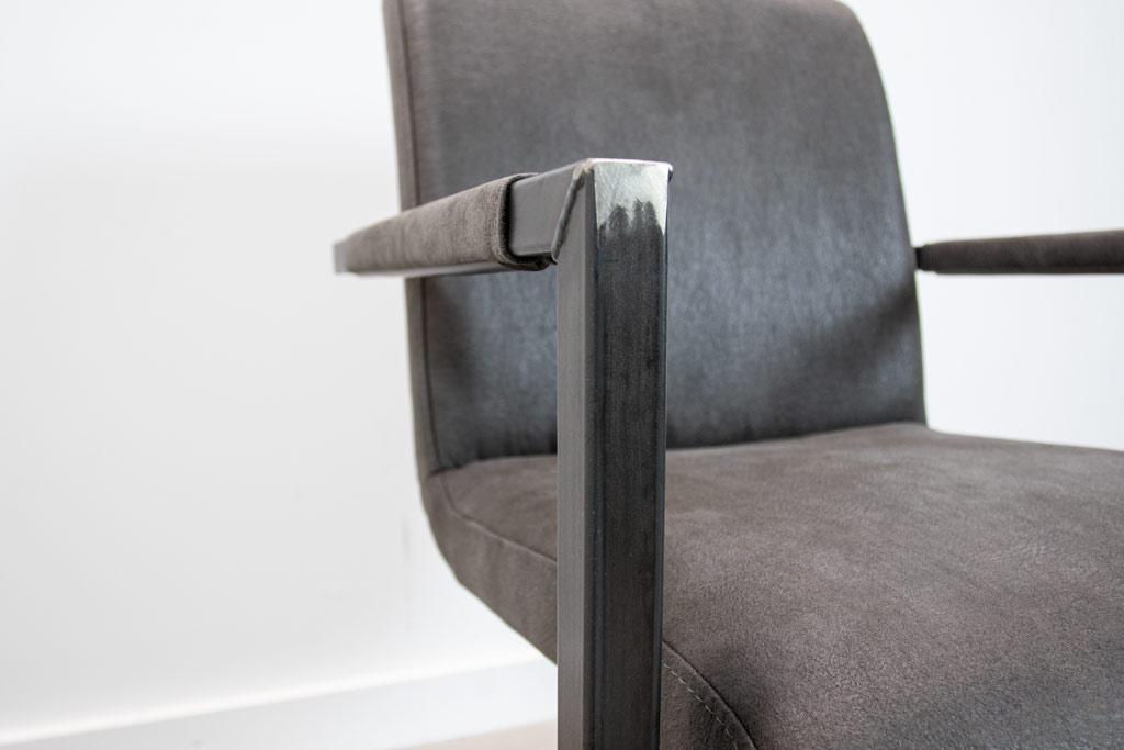 Industrie Freischwinger - Stoff Stuhl - Art. 59 - Antracite