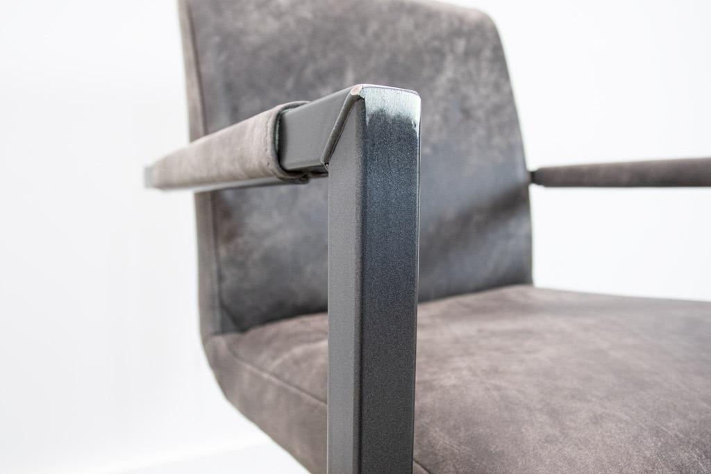 Industrie Freischwinger - Lederstuhl - Art. 59 - Moro