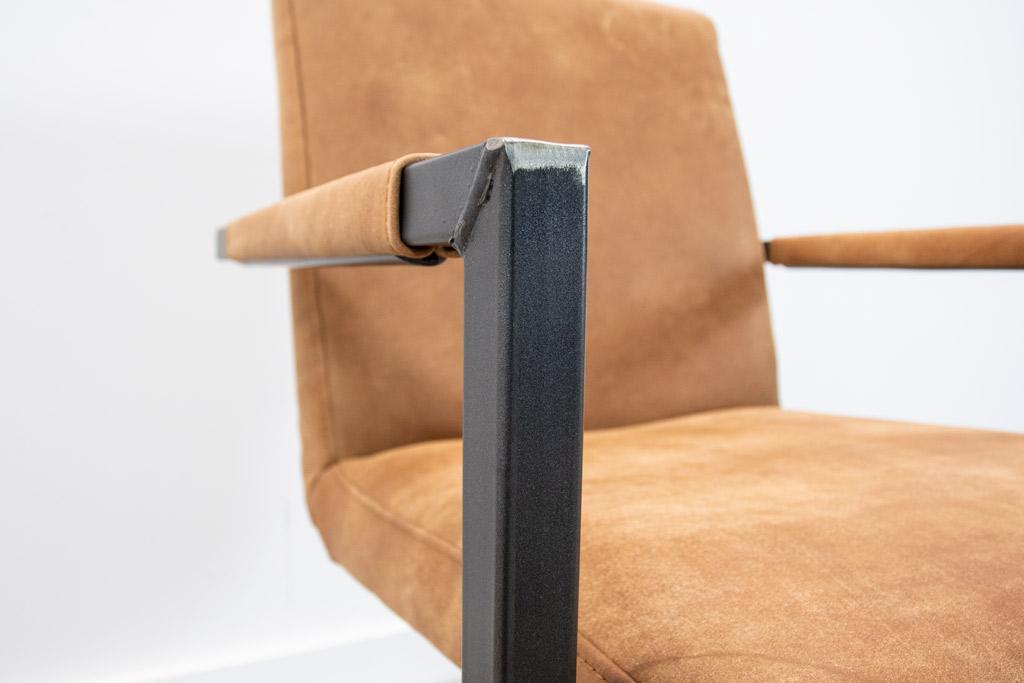 Industrie Freischwinger - Lederstuhl - Art. 59 - Walnut