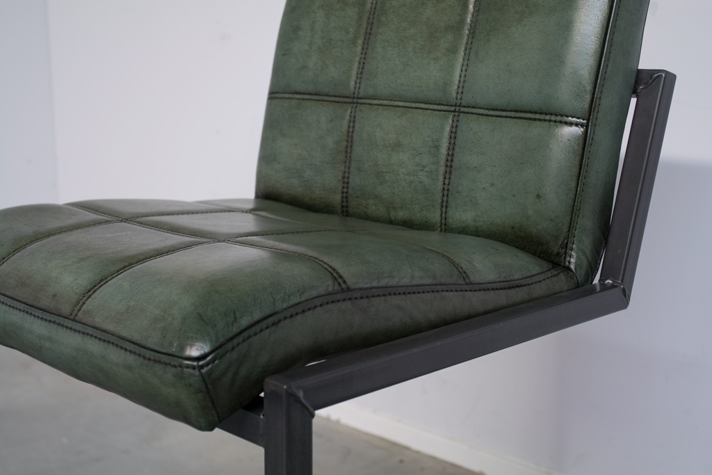 Buffalo Industrie Barhocker Niedrig - Vintage Leder - Art. 94