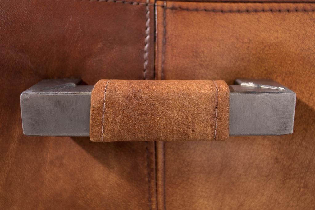 Amerikanischer Lehnstuhl Dixie mit Handgriff - Leder Ohne Arm