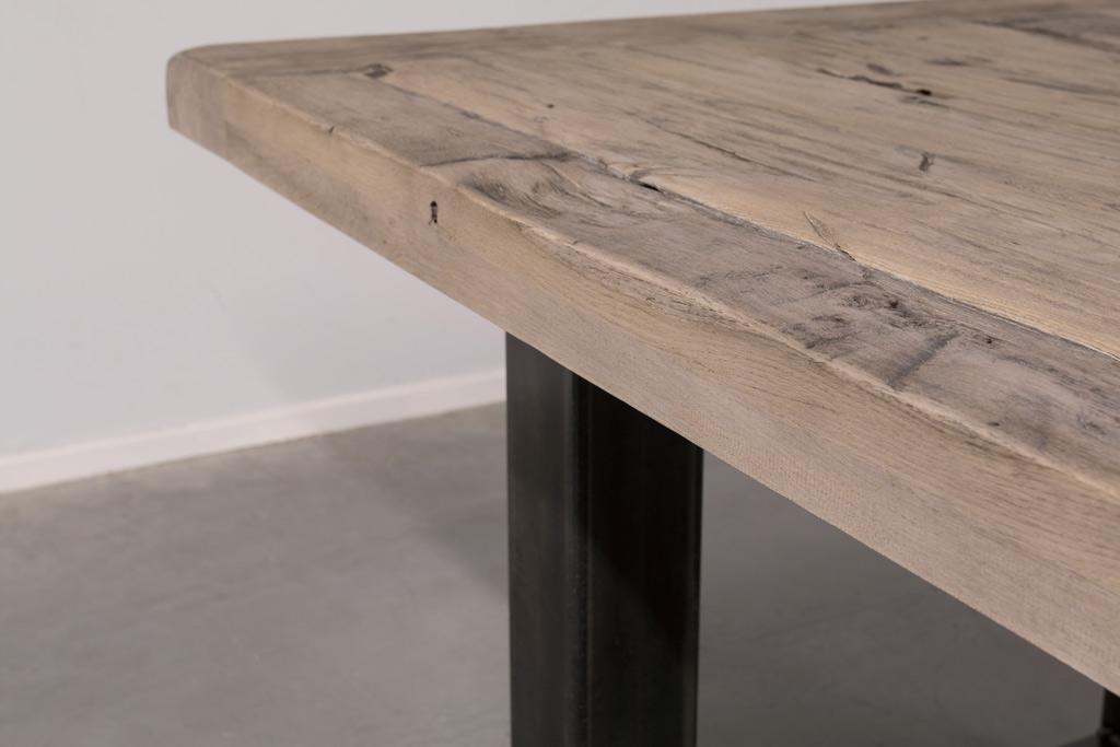 Industrie Design Esstisch O-Gestell - Alte Eiche - Art. 166
