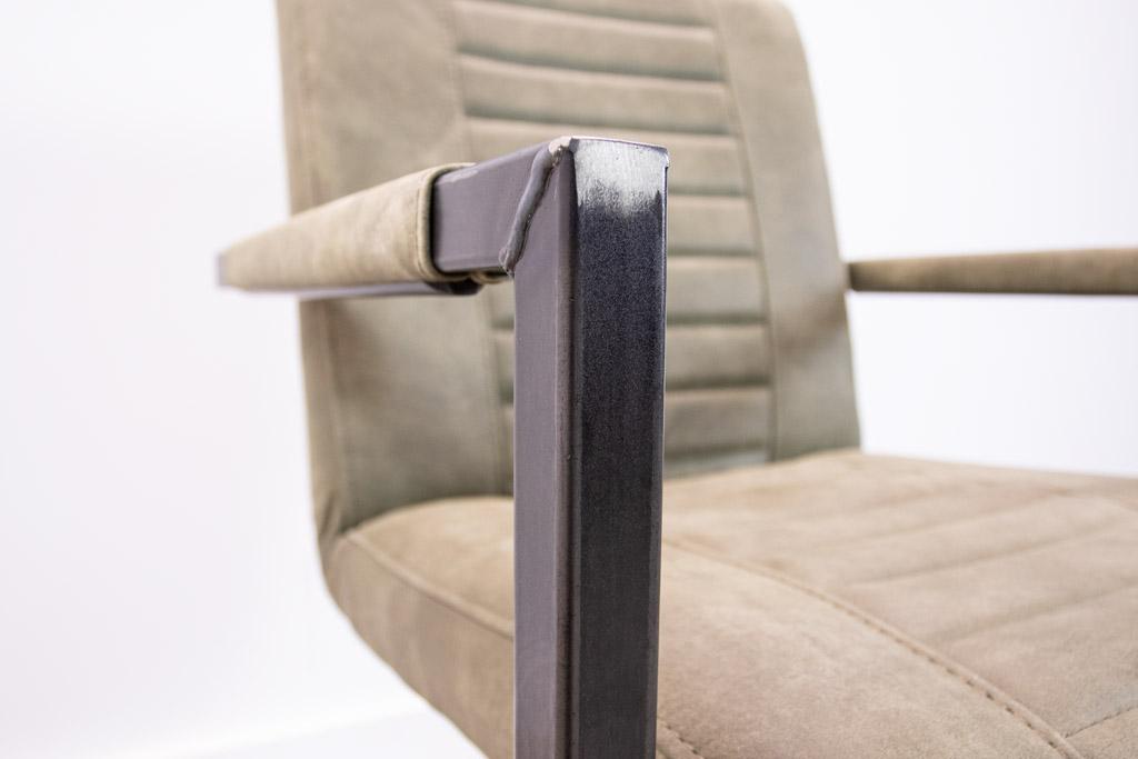 Industrie Freischwinger - Lederstuhl - Art. 176 - Olive