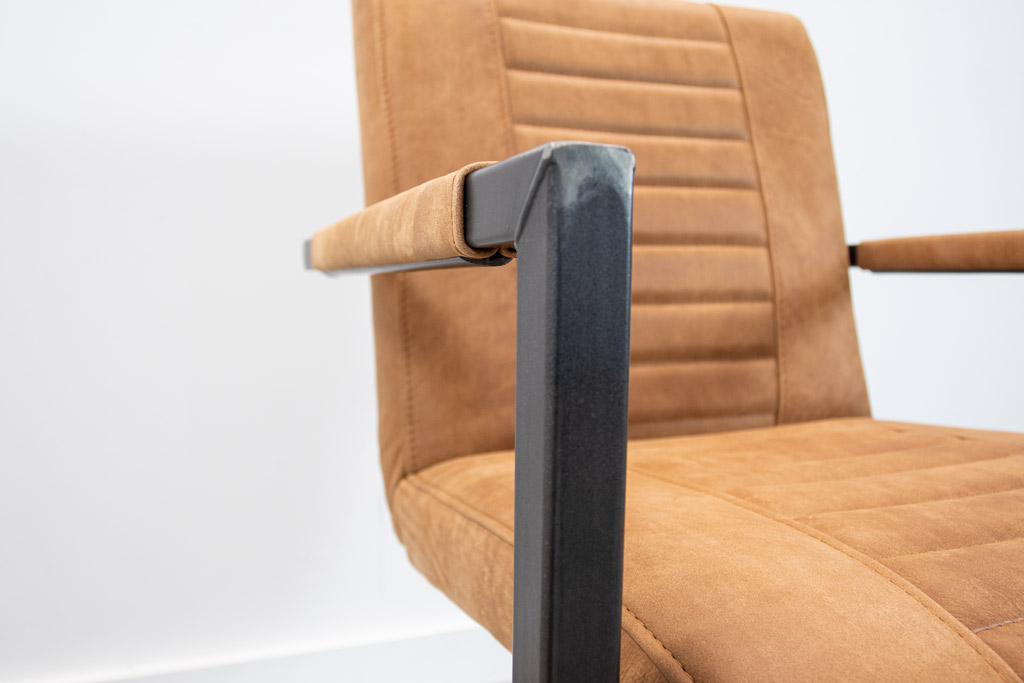Industrie Freischwinger - Lederstuhl - Art. 176 - Walnut