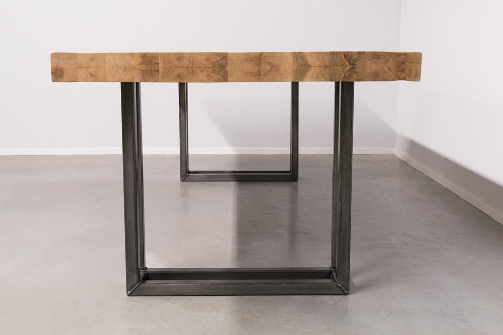 Industrie Design Esstisch U-Gestell Doppelt - Neue Eiche - Art. 303