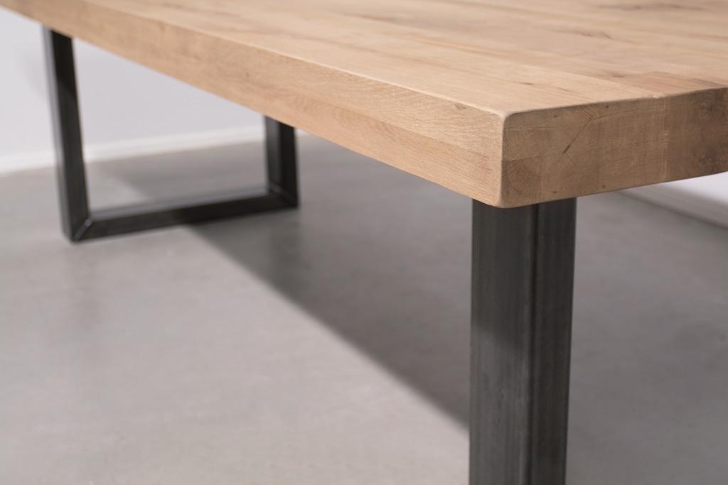 Industrie Design Esstisch U-Gestell - Rustikale Eiche - Art. 360