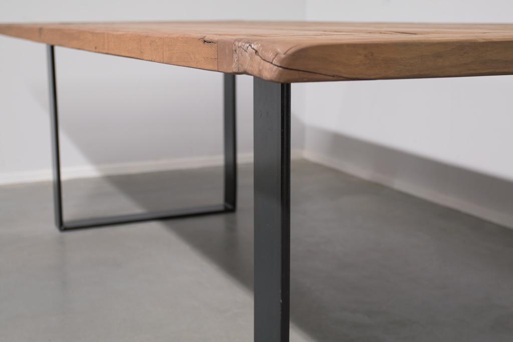 Industrie Design Esstisch U-Gestell - Alte Eiche - Art. 370