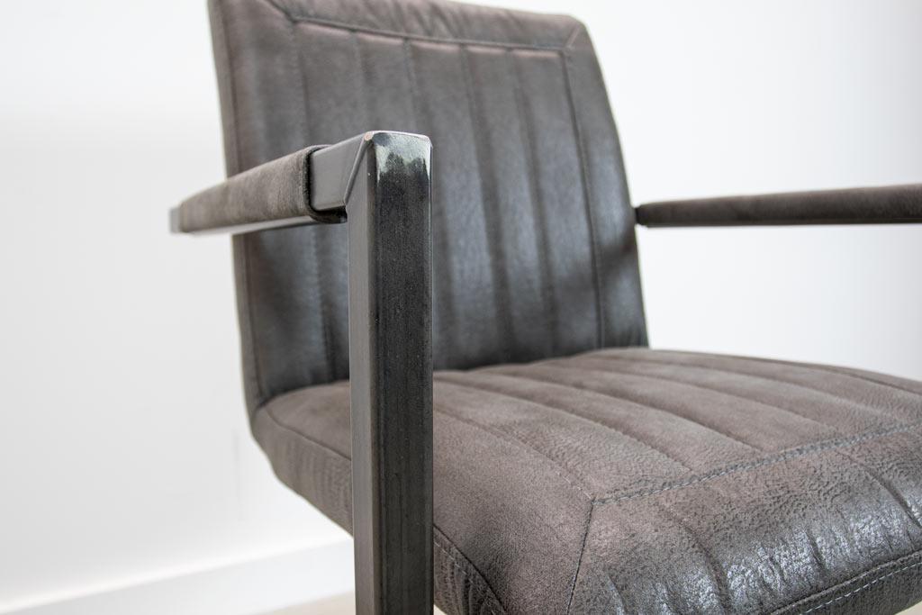 Industrie Freischwinger - Stoff Stuhl - Art. 399 - Antracite