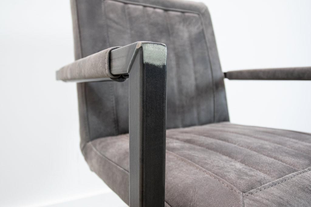 Industrie Freischwinger - Lederstuhl - Art. 399 - Moro