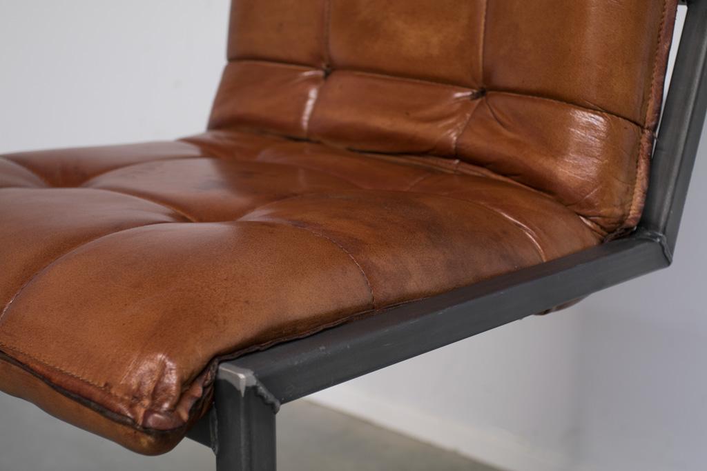 Buffalo Industrie Barhocker Niedrig - Vintage Leder - Art. 304