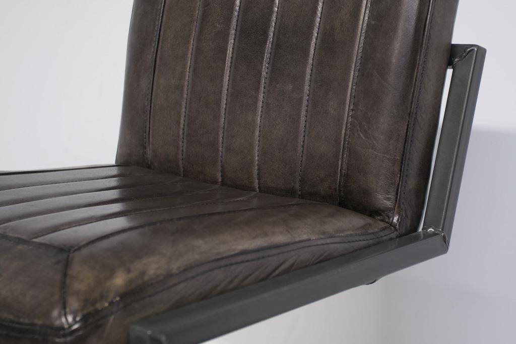 Buffalo Industrie Barhocker Niedrig - Vintage Leder - Art. 399