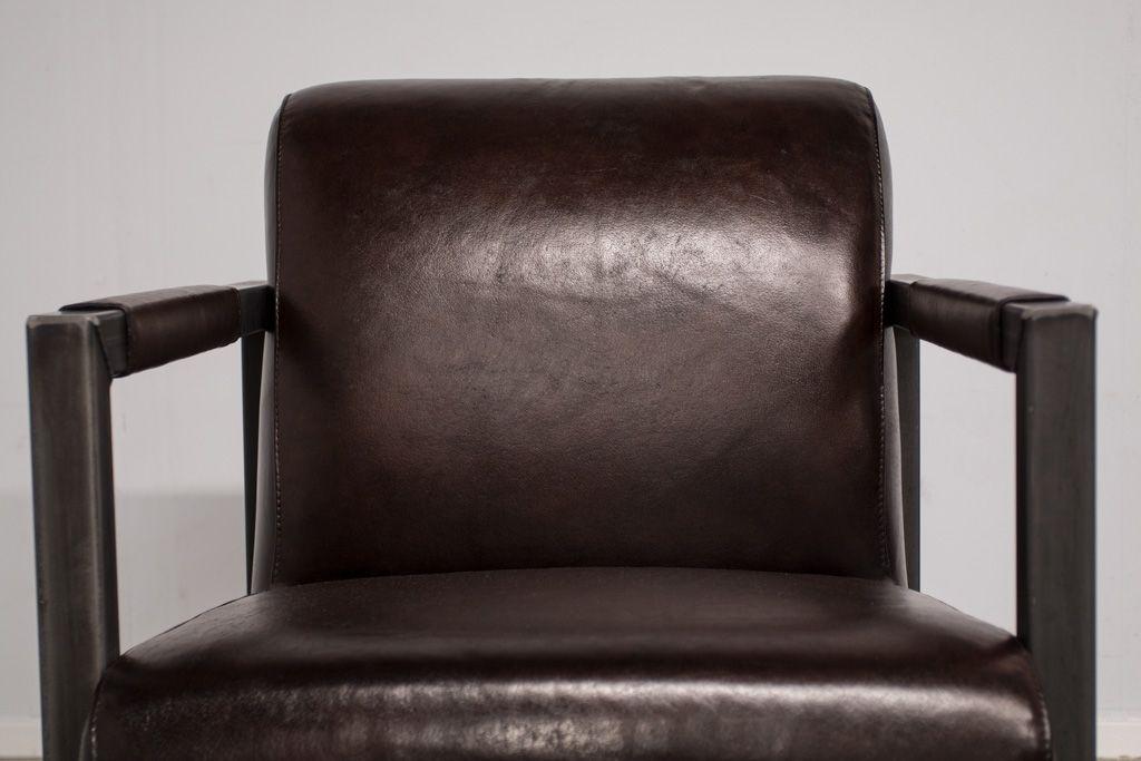 Buffalo Industrie Sessel Amerikanisch - Vintage Leder - Art. 310