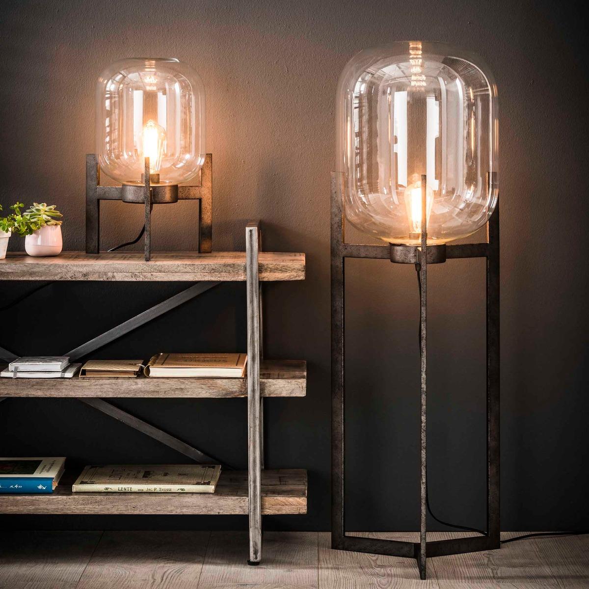 Vloerlamp Jaap | Oud zilver