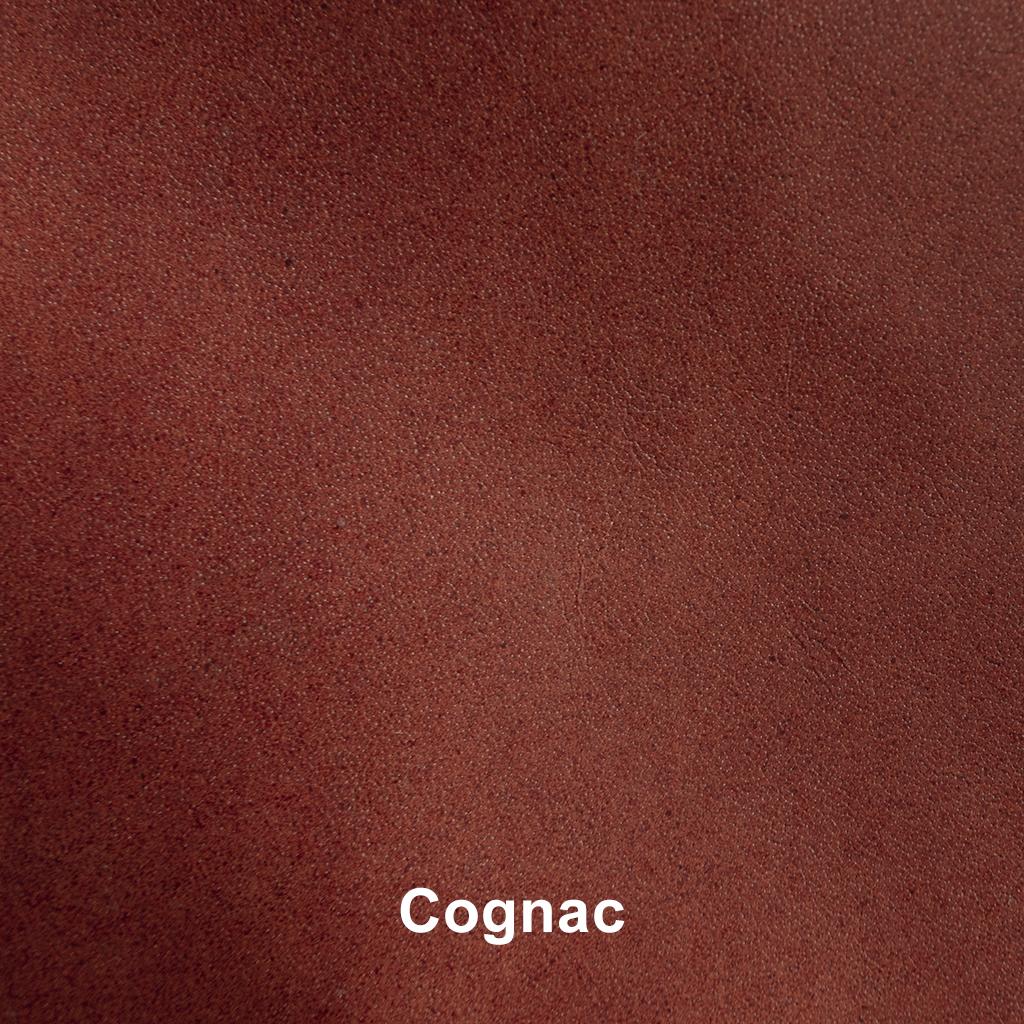 Industriële eetkamerstoel Sabina   met arm   industrial square - Cognac