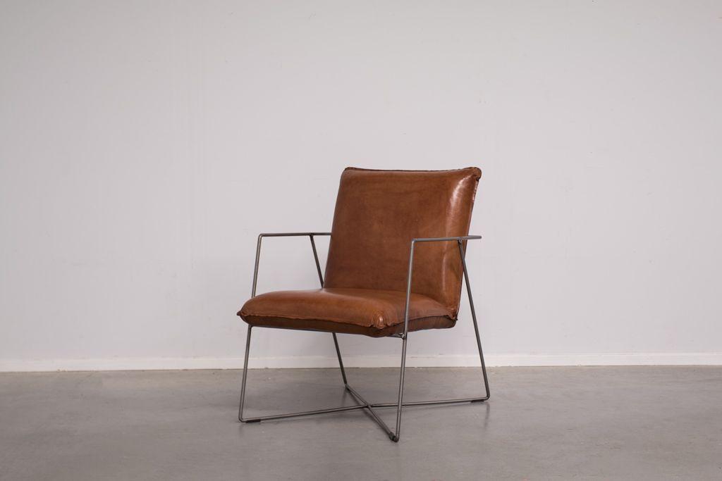 Buffalo Industrie Sessel Vintage Leder Art 364