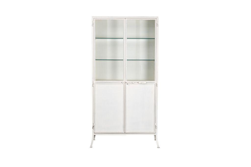 Vitrine Kast Glas : Industrieller vitrinenschrank mit 2 türen. u2013 metall mit glas u2013 art. c252