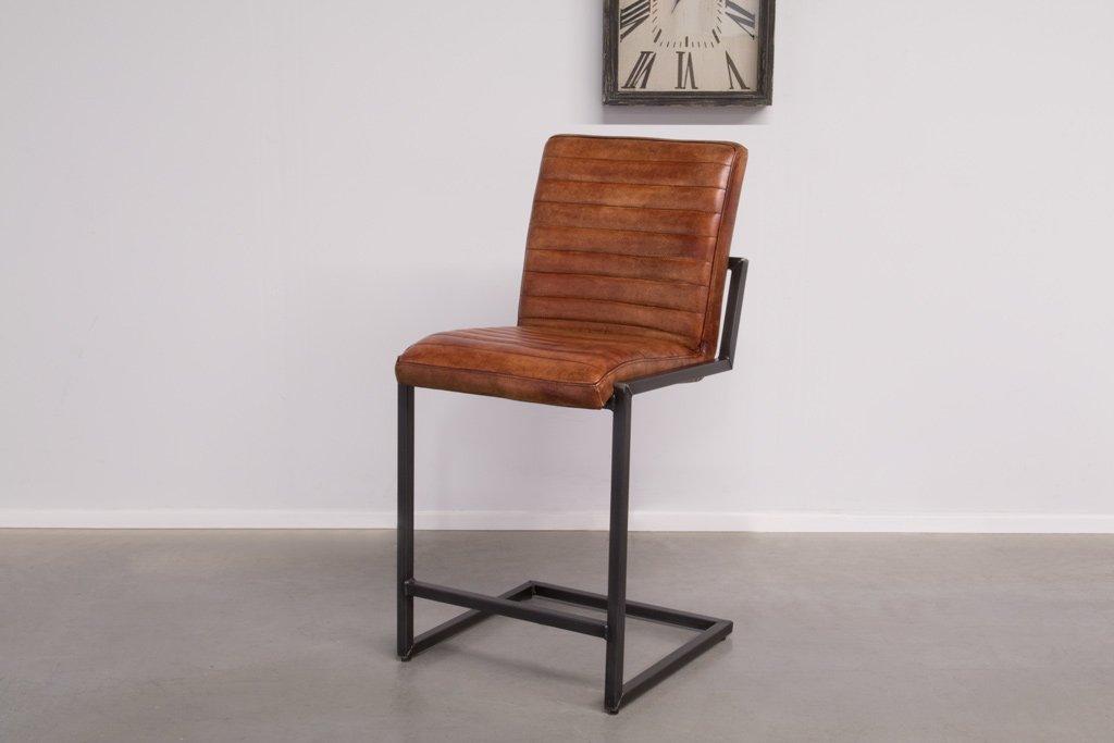 Buffalo Industrie Barhocker Niedrig - Vintage Leder - Art. 55