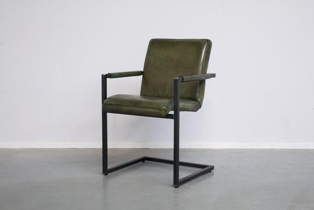 Buffalo Industrie Freischwinger - Vintage Lederstuhl - Art. 59