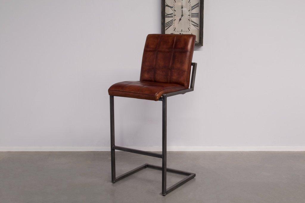 Buffalo Industrie Barhocker Hoch - Vintage Leder - Art. 94