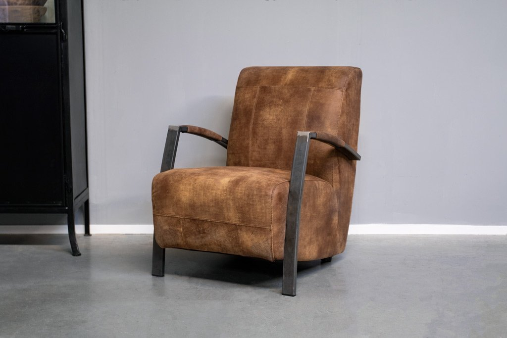 Buffalo Industrie Sessel - Vintage Leder - Art. 121