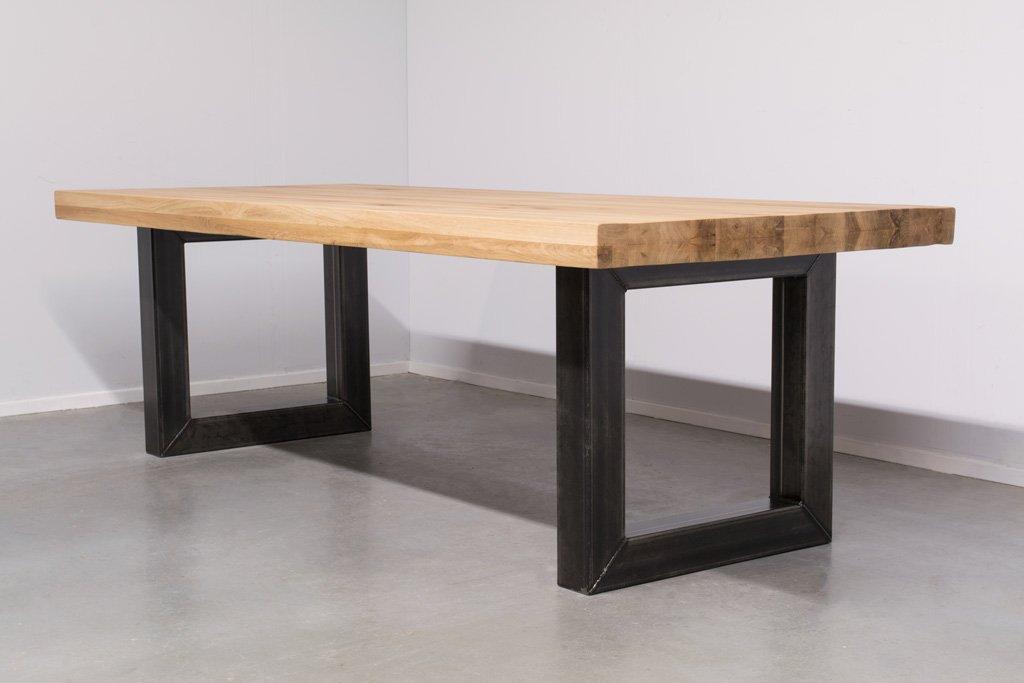 Industrie Design Esstisch O-Gestell - Neue Eiche - Art. 166