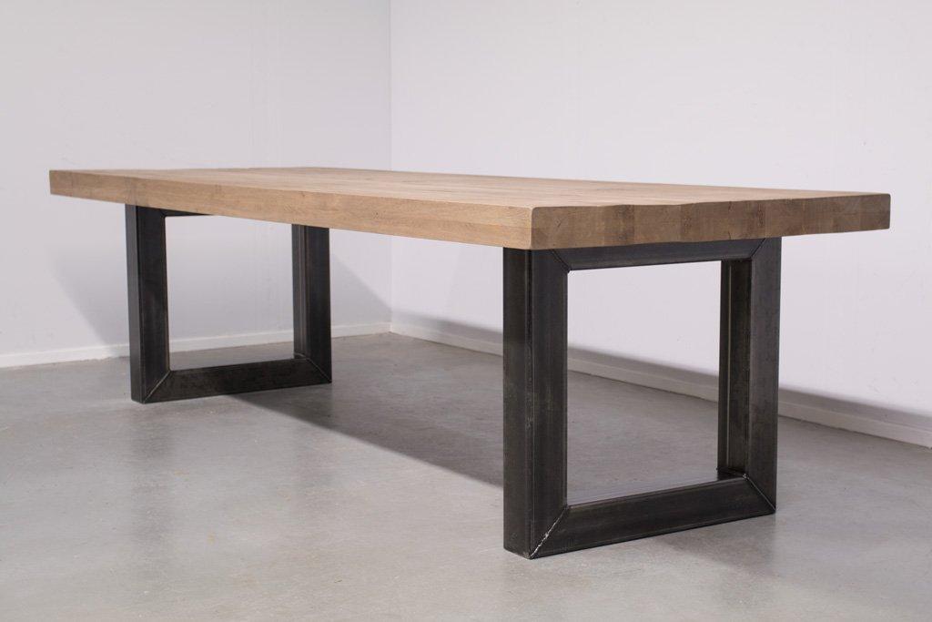 Industrie Design Esstisch O-Gestell - Rustikale Eiche - Art. 166