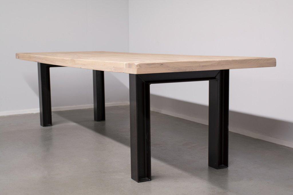 Industrie Design Esstisch n-Stahl Profil - Alte Eiche - Art. 246