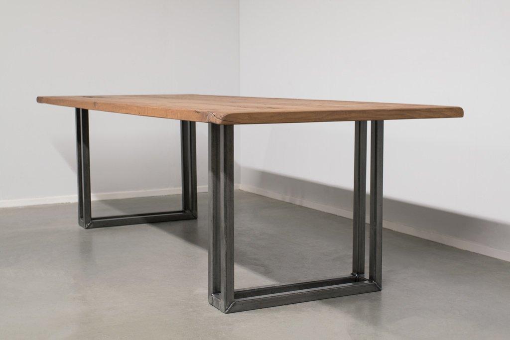 Industrie Design Esstisch U-Gestell Doppelt - Alte Eiche - Art. 303