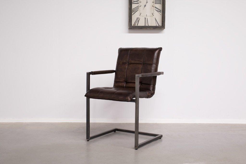 Buffalo Industrie Freischwinger - Vintage Leder - Art. 304