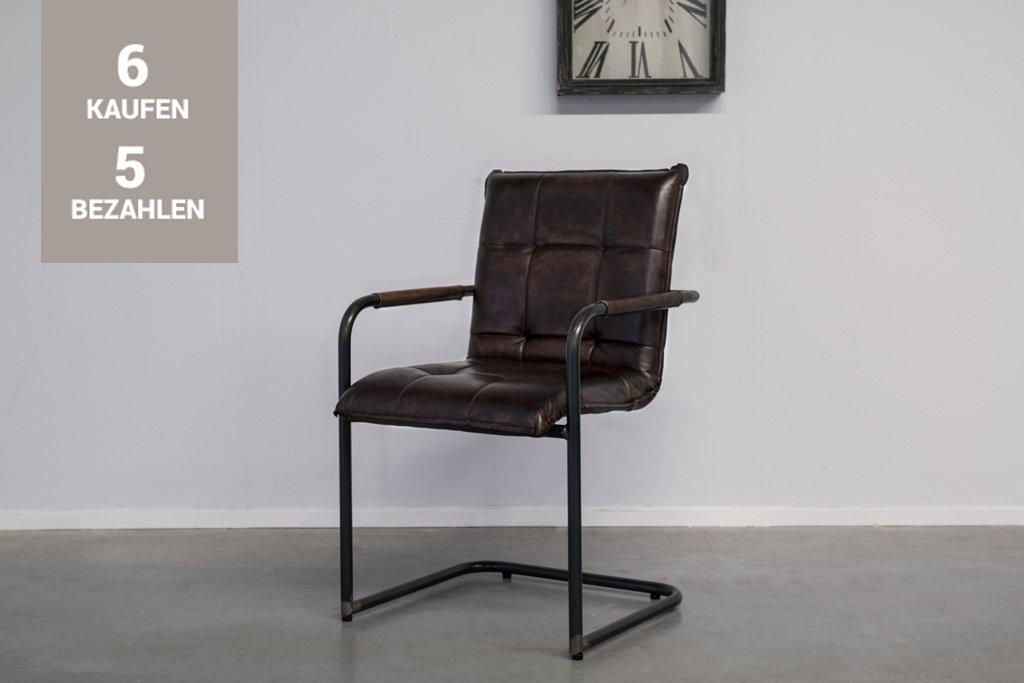 Buffalo Industrie Freischwinger - Vintage Leder - Art. 304WR
