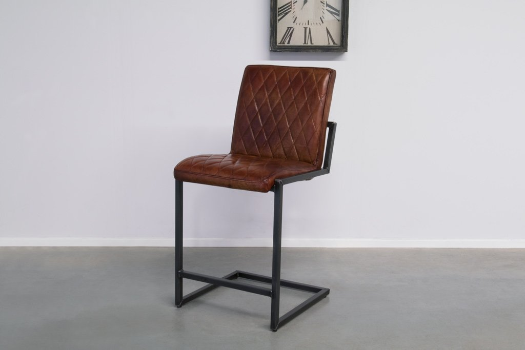 Buffalo Industrie Barhocker Niedrig - Vintage Leder - Art. 305