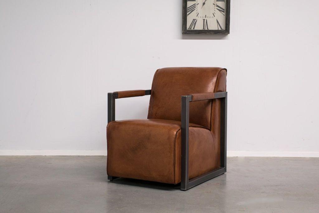 Buffalo Industrie Sessel Amerikanisch - Vintage Leder - Art. 309