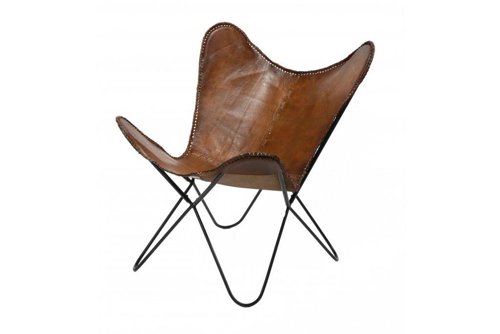 Schmetterling Stuhl Leder VPE2