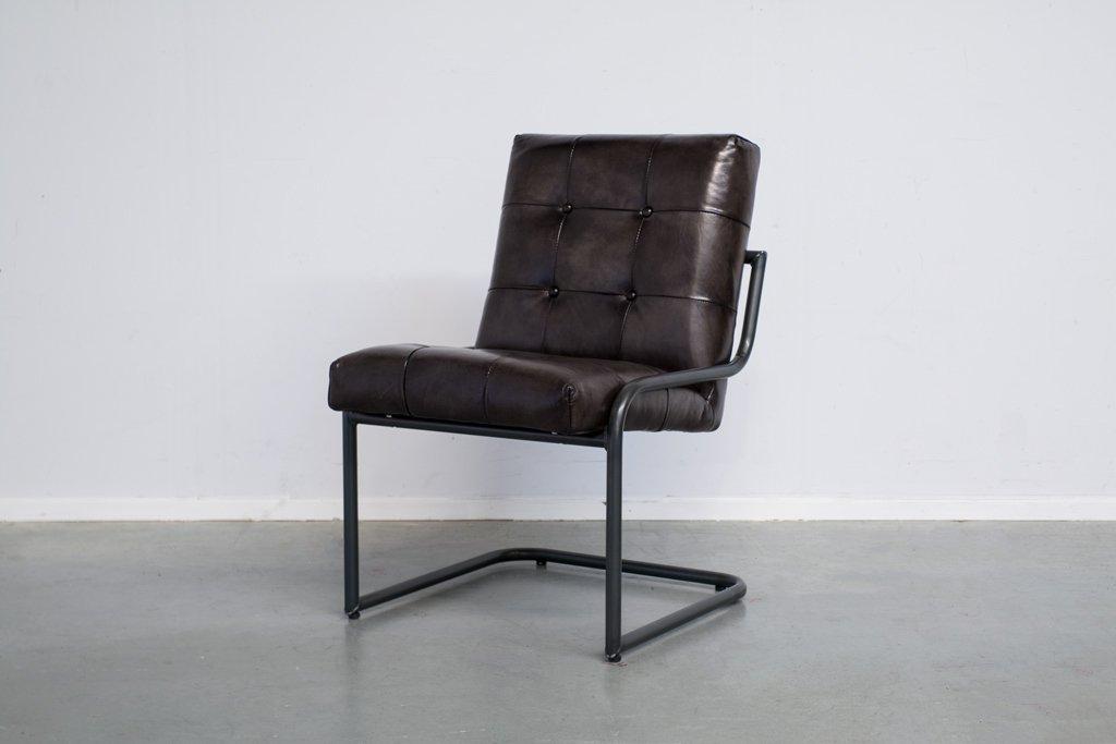 Buffalo Konferenz Freischwinger Jenson - Vintage Lederstuhl Ohne Arm - Art. 391WR