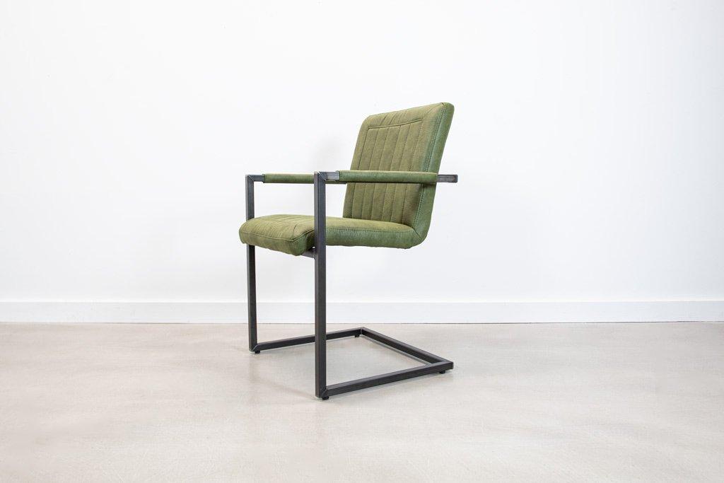 Industrie Freischwinger - Stoff Stuhl - Art. 399 - Hunter