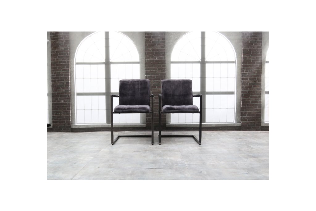 2x Industrie Freischwinger - Stuhl - Art. 36