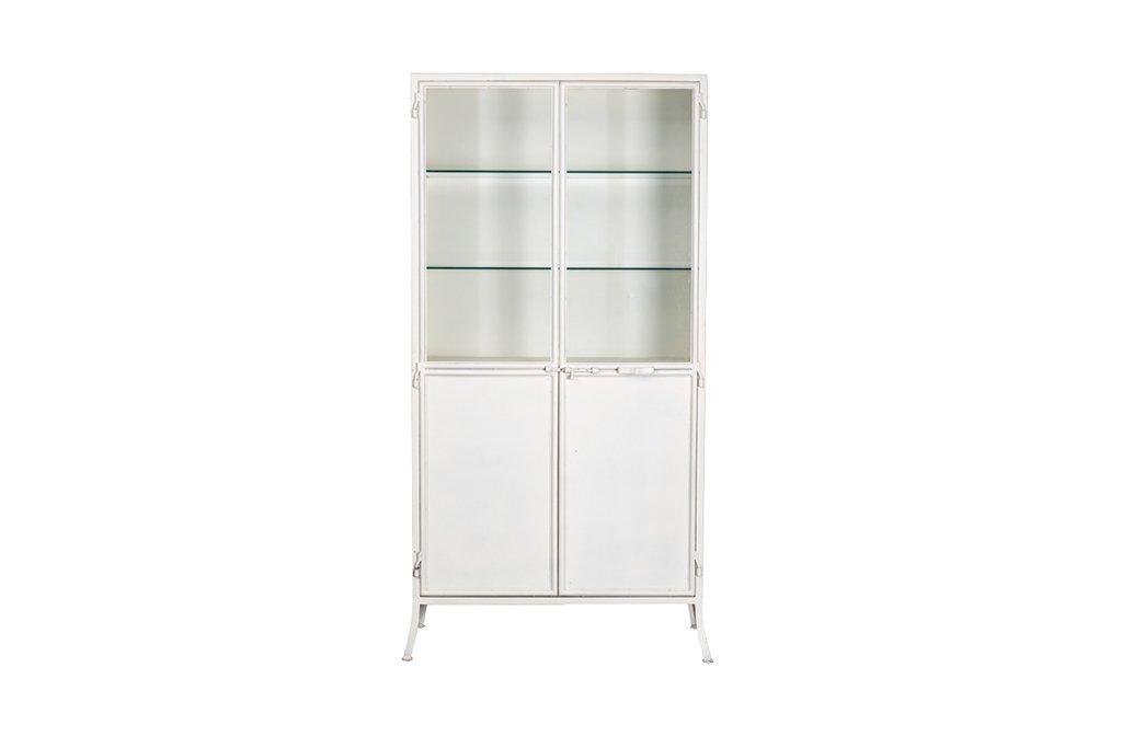 Industrieller Vitrinenschrank mit 2 Türen. – Metall mit Glas – Art. C252