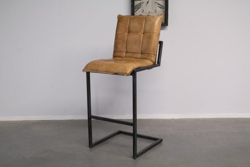 Buffalo Industrie Barhocker Hoch - Vintage Leder - Art. 304
