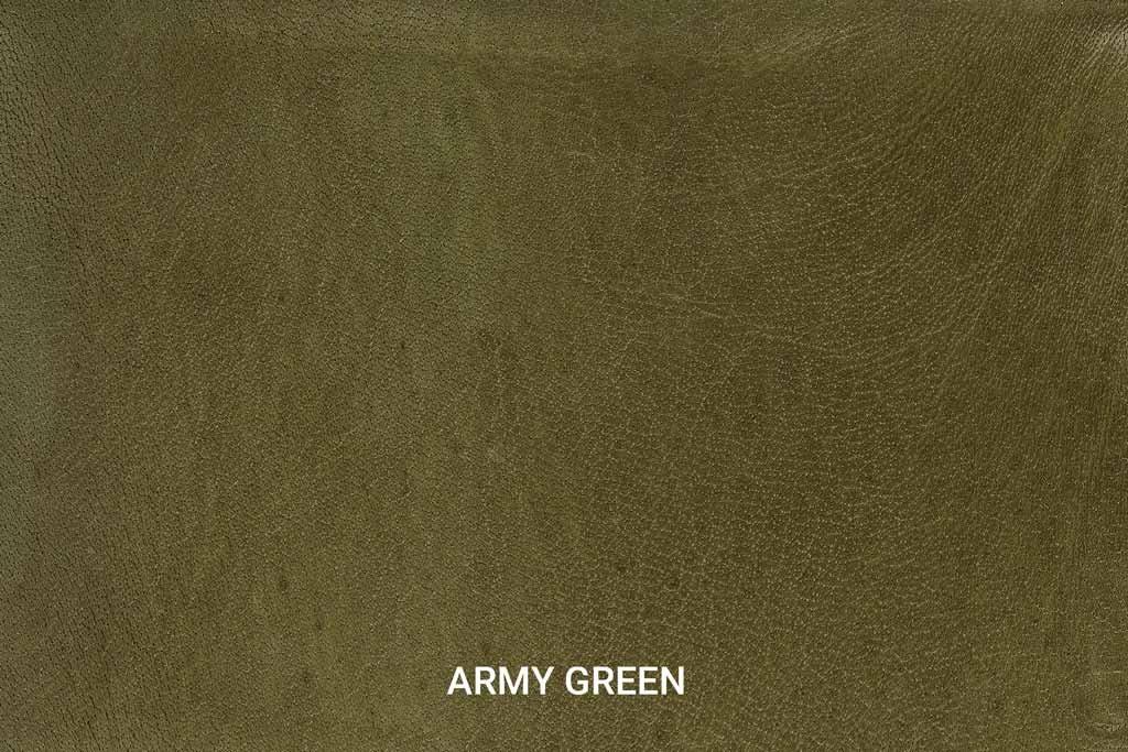Farbmuster Büffelleder Vintage Army Green