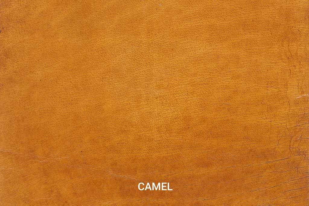 Farbmuster Büffelleder Vintage Camel