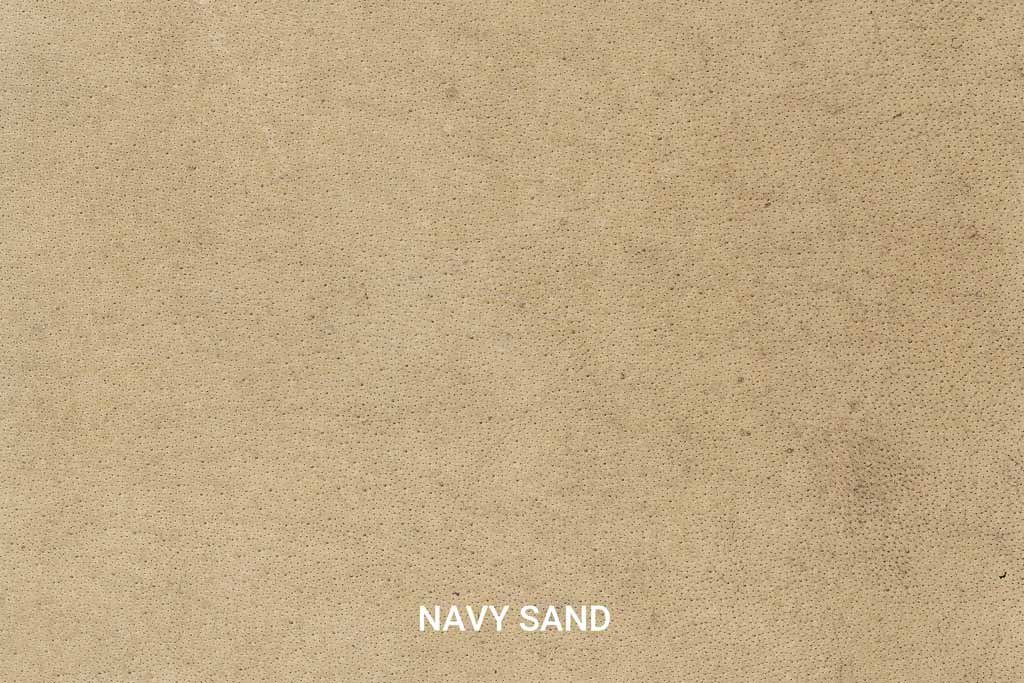 Farbmuster Büffelleder Vintage Navy Sand