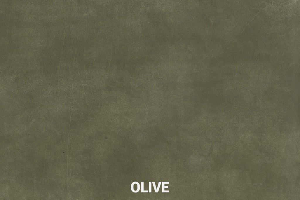 Farbmuster Büffelleder Elegant Olive