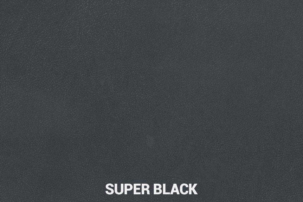 Farbmuster Büffelleder Elegant Super Black