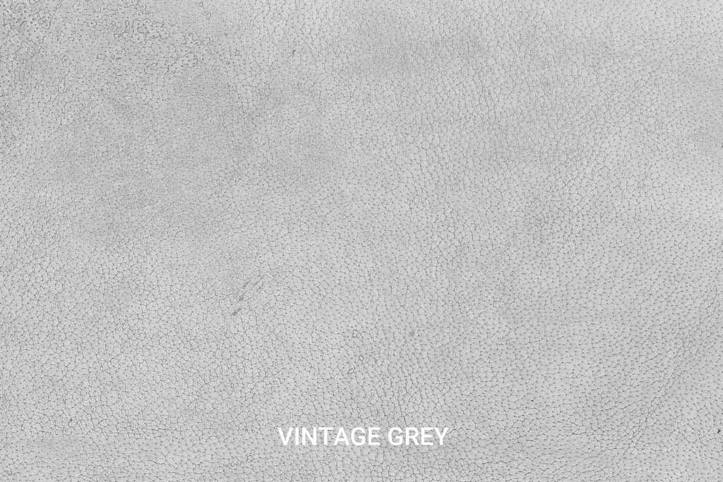 Farbmuster Büffelleder Vintage Grey