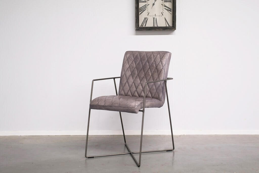 Buffalo Industrie Esszimmerstuhle - Vintage Lederstuhl - Art. 305DS